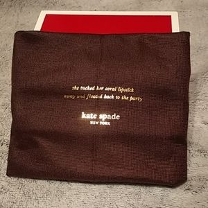 Authentic Kate Spade pouch dark brown